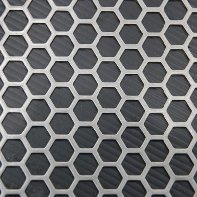 H09564 Perforated Metal Sheet: 9.5mm Hexagon, 64% Open Area