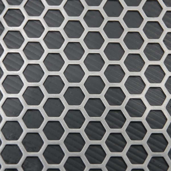 H09564 Perforated Metal Sheet: 9.5mm Hexagon, 64% Open Area - 1