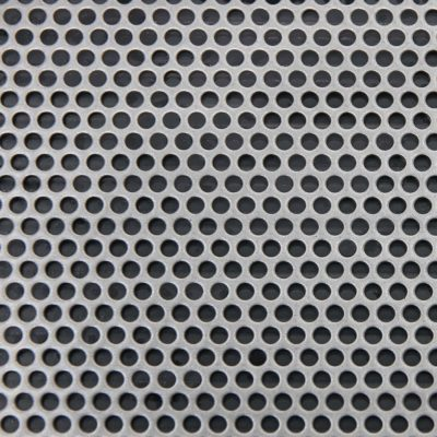 R03341 Perforated Metal Sheet: 3.25mm Round, 41% Open Area