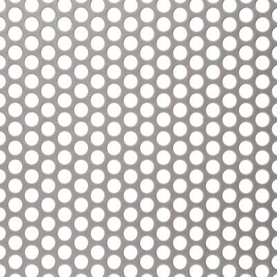R08047 Perforated Metal Sheet: 8mm Round, 47% Open Area