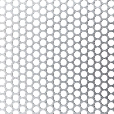 R09551 Perforated Metal Sheet: 9.5mm Round, 51% Open Area