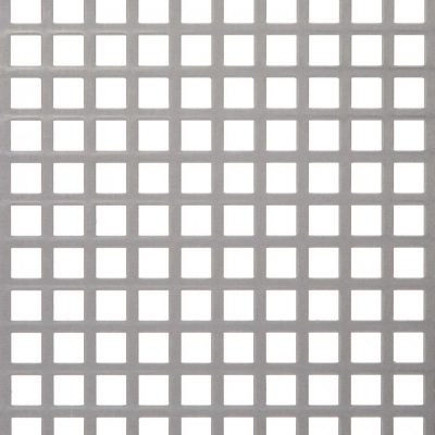 S11149 Perforated Metal Sheet: 11mm Square, 49% Open Area