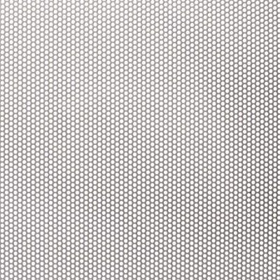 R02141 Perforated Metal Sheet: 2.1mm Round, 41% Open Area